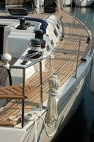 Sailing yacht side deck